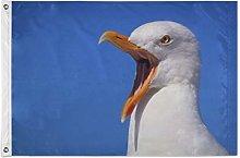 FANTAZIO Bandiera da giardino Angry Seagull
