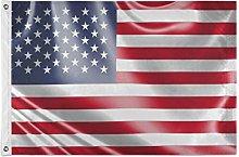 FANTAZIO - Bandiera da giardino con bandiera USA