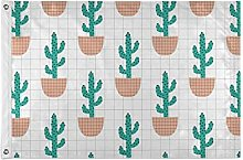 FANTAZIO - Bandiera da giardino con motivo cactus