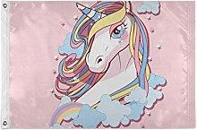FANTAZIO - Bandiera da giardino con unicorno