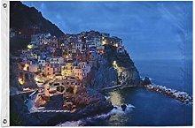 FANTAZIO Bandiera da giardino Italia Cinque Terre