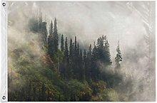 FANTAZIO Bandiera da giardino Smog Mountian Trees