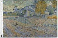 FANTAZIO Bandiera da giardino Van Gogh Blick