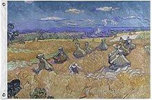 FANTAZIO Bandiera da giardino Van Gogh Campi di
