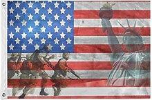 FANTAZIO Bandiera da giardino Veterano US Bandiera