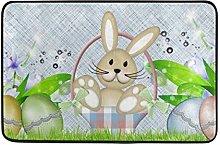 FANTAZIO Happy Easter Conigits Pattern zerbino per
