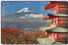 FANTAZIO - Tappeto con motivo paesaggistico Fuji