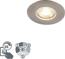 Faretto da incasso argento LED dimm 3 livelli - ULO