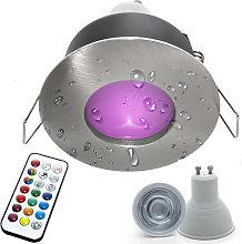 Faretto incasso cromoterapia IP65 LED 6W GU10 box