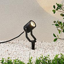 Faretto LED da esterno Maris con picchetto, nero