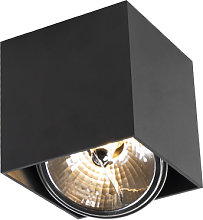 Faretto quadrato nero incl. lampadina - BOX