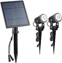 Faretto solare, lampada da prato solare, per uso