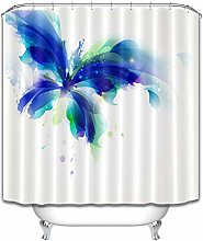 Farfalla astratta blu e ciano macchia HD stampa,