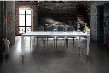 Fashion Commerce - Tavolo bianco in vetro