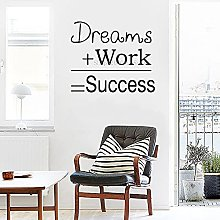Fashion Dream Quotes Wall Sticker Office Frasi