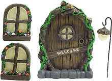 Fata in miniatura GNOME casa finestra e porta per
