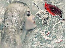 Fata Rotonda Pittura Diamante Snow Maiden 5D Fai