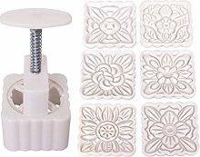 fatteryu Stampo Mooncake 150g 6pcs Stampi Fiori