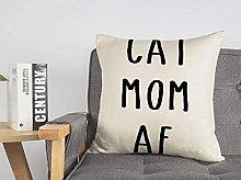 Federa decorativa in lino con scritta in lingua