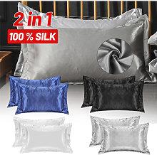 Federa per cuscino 2 in 1 in raso di seta