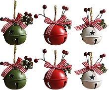 Felenny - Campane di Natale in metallo per albero