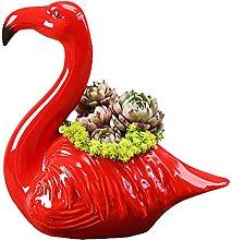 Fenicottero Ceramica Vasi Succulenti,Carino