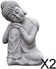 Fenteer 2 X Statue di Buddha Tailandese