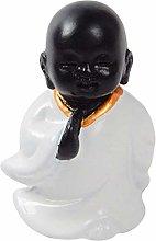 Fenteer Resina Buddha Seduto Sedia Scultura
