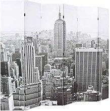 Festnight- Paravento Pieghevole 228x180 cm Stampa