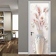 FGHXYNB Porta Murale Adesivo Per Porta 3D 95X215