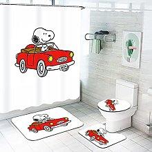 Fgolphd Snoopy - Tenda da doccia, 180 x 200 cm,