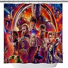 Fgolphd Tenda da doccia Avengers, 120 x 200 cm,