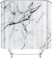 Fgolphd Tenda da doccia in marmo grigio, 180 x 180