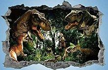 FHMYCSQ Adesivo Effetto 3D Adesivo dinosauro per