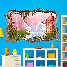 FHMYCSQ Adesivo Effetto 3D Adesivo murale poster