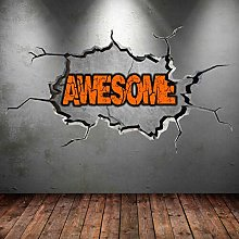 FHMYCSQ Adesivo Effetto 3D Graffiti su misura