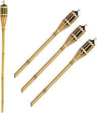Fiaccole da esterno ad olio in bamboo 100 cm per
