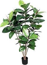 Ficus Elastica Verde - Pianta Finta Albero