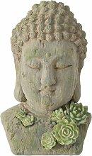 Figura decorazione testa di Buddha, busto con