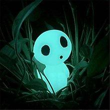 Figurina da giardino che si illumina al buio,