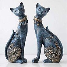 Figurine Cats Decorative Resina Statua per La Casa