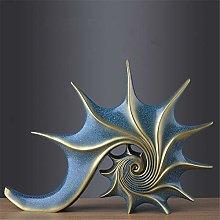 Figurine Da Collezione Scultura Statua Oro Blu