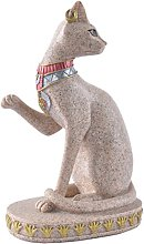 Figurine Gatto Mau Egiziano Statua Scultura in