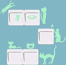 Fillplus Adesivi da Parete Cinque Gatti Glowing