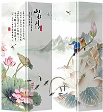 Fine Asianliving Paravento Divisori in Tela Cinese