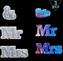 FineInno 3Pcs 3D MR & Mrs-Stampo in Resina