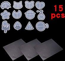 Finelnno 12 Pezzi Stampi Silicone Stampo Resina