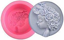Fiore Archetto Fata Bambina Round 3D in Silicone