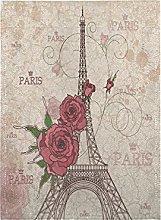 Fiore Della Torre Di Parigi Bandiera del Giardino