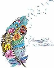 Fiore Farfalla Piuma Wall Sticker Casa Soggiorno